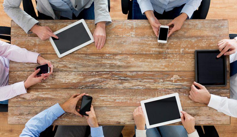 Los móviles y las reuniones
