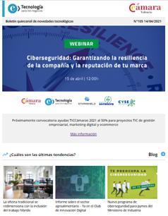Webinar de Ciberseguridad: Garantiza la resiliencia de tus sistemas informáticos. Boletín nº105